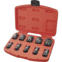 """Dugófej - Gépi (impakt) dugófej klt. 1/2"""", 10db, 9-27mm × 37 mm ; feketített, műanyag tartóban, EXTOL PREMIUM, 8818131"""
