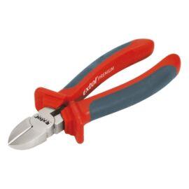 Oldalcsípőfogó, 160mm, duál narancs/kék, TPR nyél, akasztós szerszámtartó, Extol Premium, 8813138