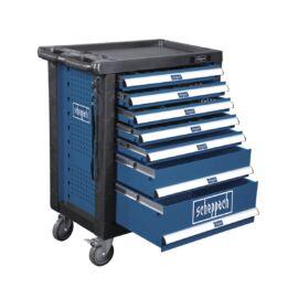SCHEPPACH TW 1000 - 263 db-os, 7 fiókos műhelykocsi szerszámokkal