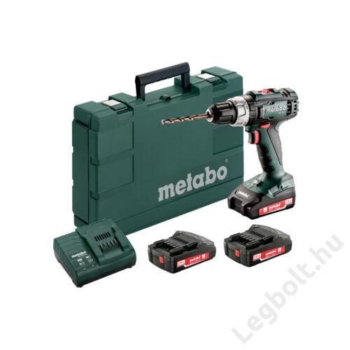 METABO BS 18 L SET (602321540) AKKUS FÚRÓCSAVAROZÓ (3X18V/2AH LI-ION; AKKUTÖLTŐ SC 60 PLUS; MŰANYAG HORDTÁSKA)
