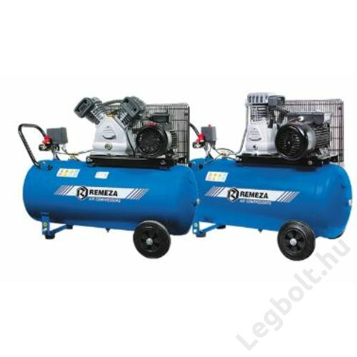 REMEZA SB4/C-90.LB30-3.0 Dugattyús kompresszor - 3,0 kW, ékszíjhajtás, 90 liter tartály, 3 fázis