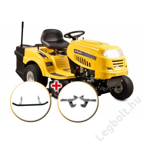Riwall RLT 92 T POWER KIT - fűnyíró traktor 92 cm vágásszélességgel, fűgyűjtővel és 6-fokozatú Transmatic váltóval