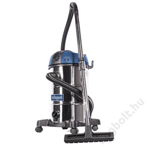 SCHEPPACH ASP 30 PLUS -  nedves-száraz porszívó mechanikus szűrő lerázással, 30 literes