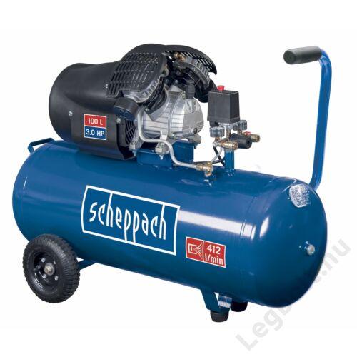 Scheppach HC 100 DC  olajkenéses kompresszor - 2,2 kW, direkthajtás, 100 literes tartály, 1 fázis