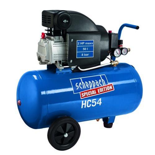 Scheppach HC 54  olajkenéses kompresszor - 1,5 kW, direkthajtás, 50 literes tartály, 1 fázis