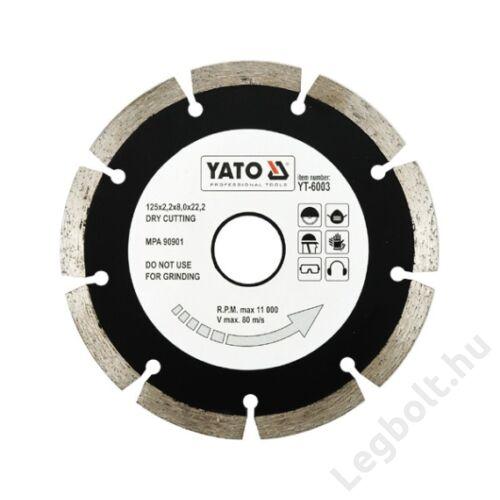 Vágókorong - Gyémántvágó szegmenses; 125 YATO, YT-6003