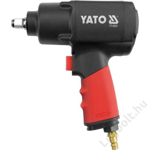 """Légkulcs, 1/2"""", 1356Nm, Twin Hammer), 6,3 Bar, 1/4"""" tömlőcsatlakozó, YATO, YT-0953"""