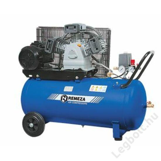 REMEZA SB4/C-90.LB40 Dugattyús kompresszor - 3,0 kW, ékszíjhajtás, 90 liter tartály, 3 fázis