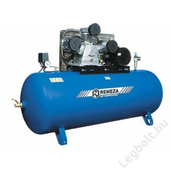 REMEZA SB4/C-90.LB75 Dugattyús kompresszor - 5,5 kW, ékszíjhajtás, 90 liter fekvő tartály, 3 fázis