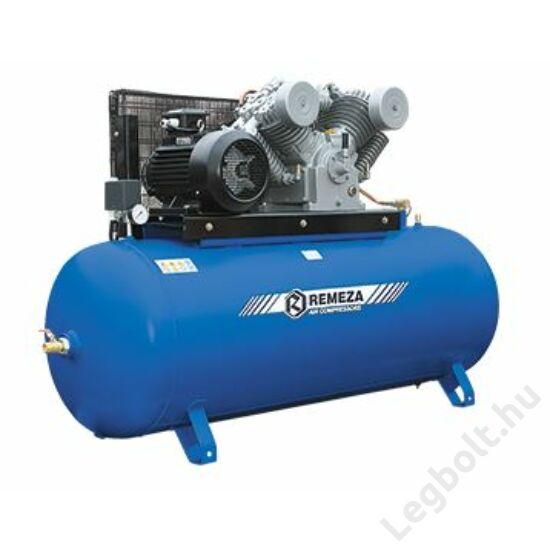 REMEZA SB4/F-500.LT100  Dugattyús kompresszor - 7,5 kW, ékszíjhajtás, 500 liter tartály, 3 fázis