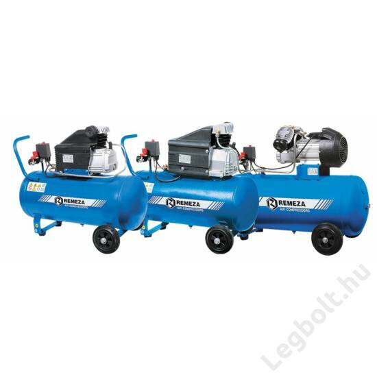 REMEZA SB4/C-50.J2047B Dugattyús kompresszor - 2,2 kW, direkthajtás, 50 liter tartály, 1 fázis